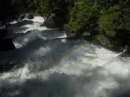 Looking downstream from Vernal Fall Footbridge