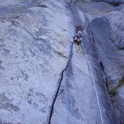 Leading off El Cap Spire