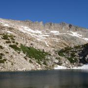 Alpine Lake at mid-point of approach