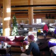 Glacier Point ski hut interior
