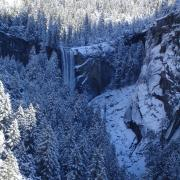 Vernal Fall in snow