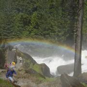 Rainbow on the Mist Trail