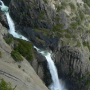 Middle Cascade of Yosemite Falls from OMG Point