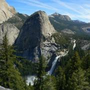 Nevada Fall and Liberty Cap