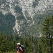 Continuation of the Panorama Trail in the distance from near Glacier Point