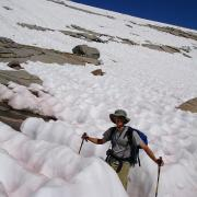 hiker in suncup