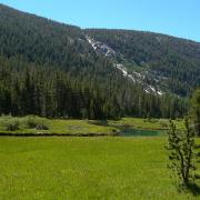 Kuna Cascade near the head of Lyell Canyon