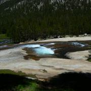 Water over granite