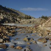 Ice on Tenaya Creek