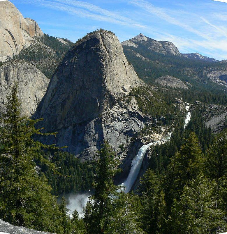Panorama Trail From Glacier Point To Yosemite Valley