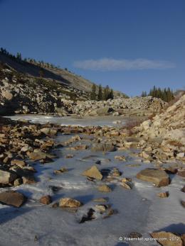 Ice on Tenaya Creek