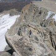 Looking down East Ridge of Conness