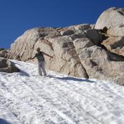 Glissading back to Alpine Lake