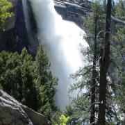 Nevada Fall from Mist Trail