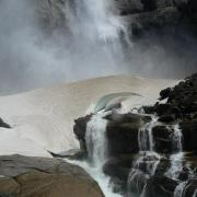 Base of Upper Yosemite Falls in Spring